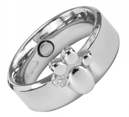 1385 Magnet Ring Pfote Größe: 18 ca. 18 mm (ca.57)