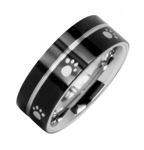 2085 Magnet Ring Pfote sw/s