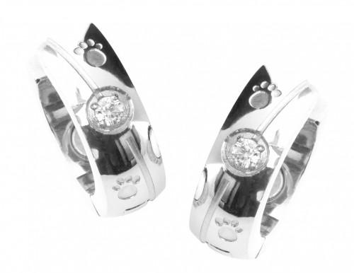 2092 Magnet Ohrring mit Zirkonia EAN: 4250599103378