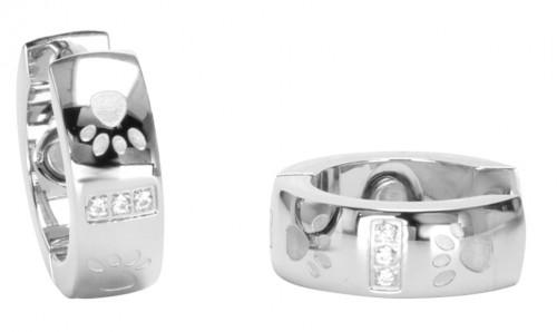 2095 Magnet Ohrring mit Zirkonia