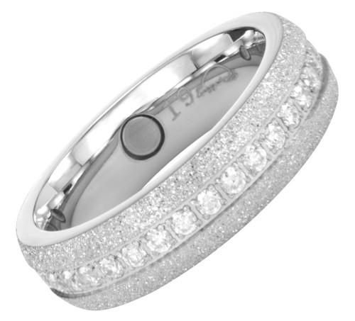 2121 Magnet Ring CZ statt EUR49,-/CHF65,- Größe: 19 ca. 19 mm (ca.60)