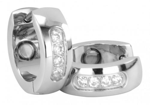 2306 Magnet Ohrring mit Zirkonia