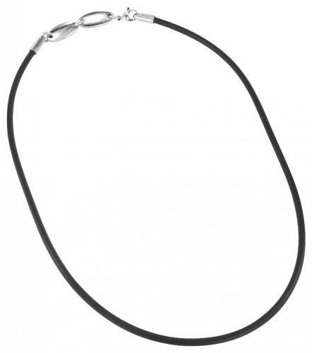2341 4in1 Halskette Kautschuk 3mm Größe: ca. 45cm (L)