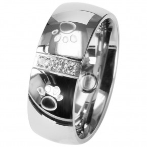 2096 Magnet Ring Pfote m. Zirkonia Größe: 20 ca. 20 mm (ca.63)